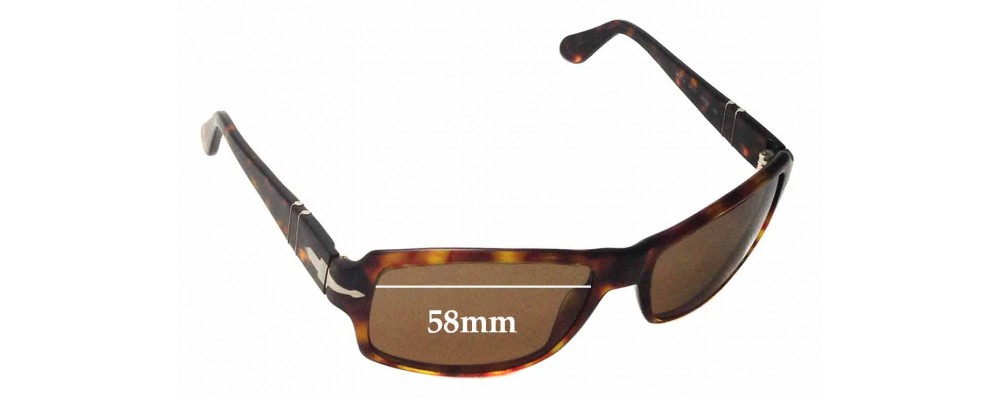 SFX Replacement Sunglass Lenses fits Persol 2837S 58mm Wide