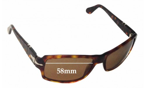 Persol 2837S Replacement Sunglass Lenses - 58mm wide