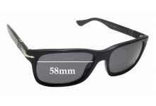 Persol 3048S Replacement Sunglass Lenses - 58mm wide x 41mm tall