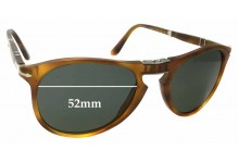 Persol 9714-S Replacement Sunglass Lenses - 52mm wide