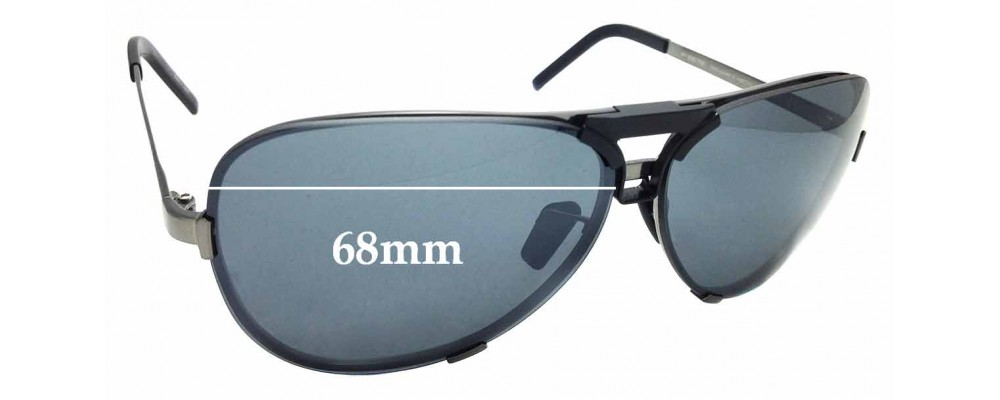 36b0661a350 Sunglass Fix Replacement Lenses for Porsche Design P8678 - 68mm Wide ...