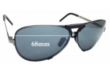 Sunglass Fix Replacement Lenses for Porsche Design P8678 - 68mm Wide