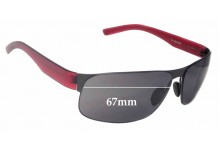 Porsche P'8531 Replacement Sunglass Lenses - 67mm wide