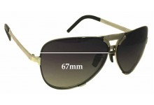 Porsche Design P8678 Replacement Sunglass Lenses - 67mm Wide