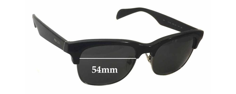 Prada SPR11P Replacement Sunglass Lenses - 54mm wide
