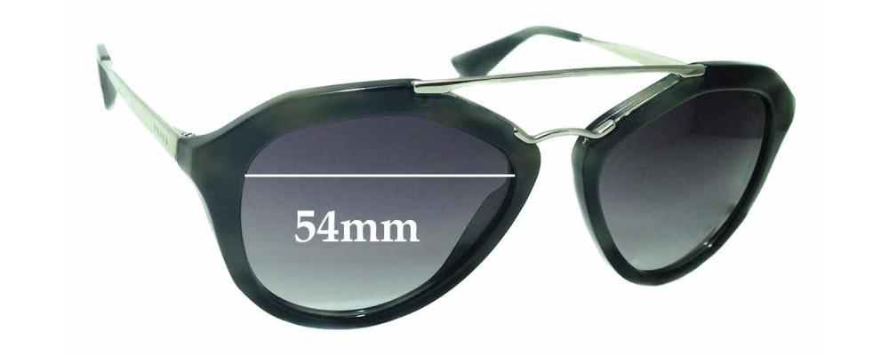 Sunglass Fix Replacement Lenses for Prada SPR 12Q - 54mm wide