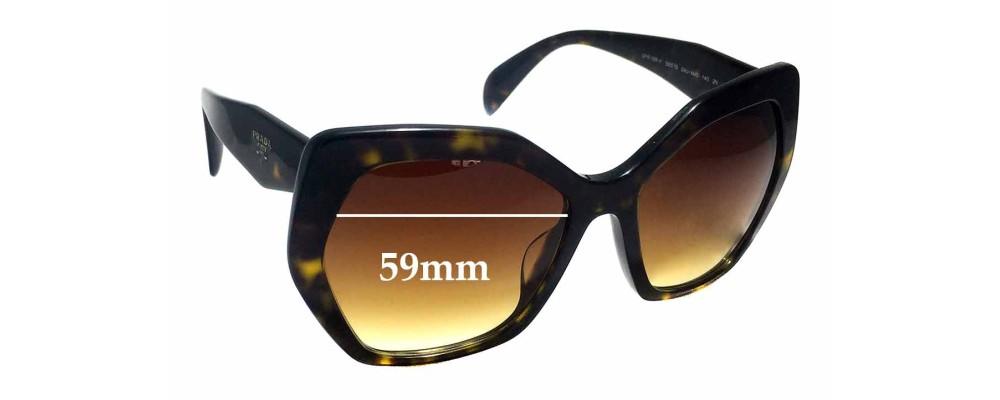 Sunglass Fix Replacement Lenses for Prada SPR16R-F - 59mm wide