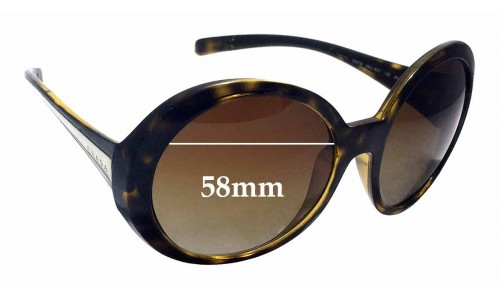 Prada SPR21L Replacement Sunglass Lenses - 58mm wide