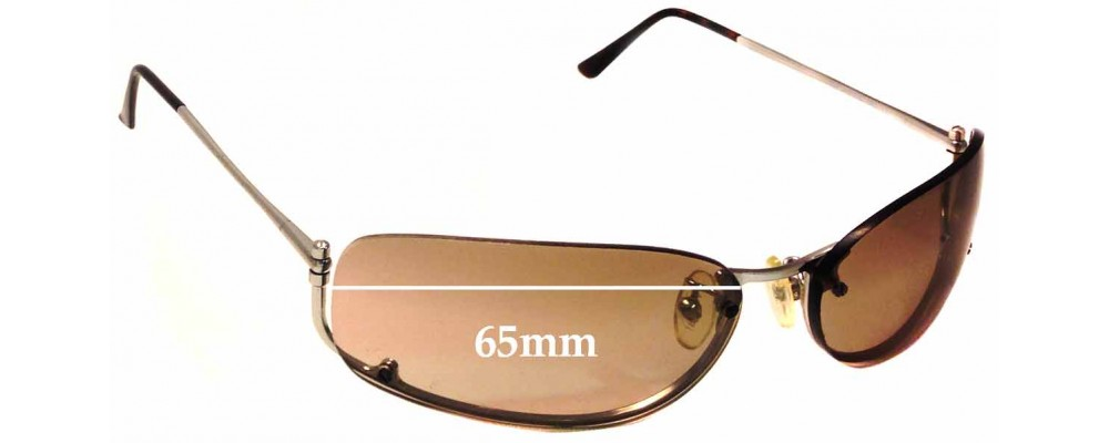 Prada SPR50D Replacement Sunglass Lenses - 65mm wide