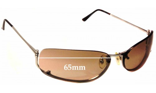 Prada SPR50D Replacement Sunglass Lenses - 65mm wide