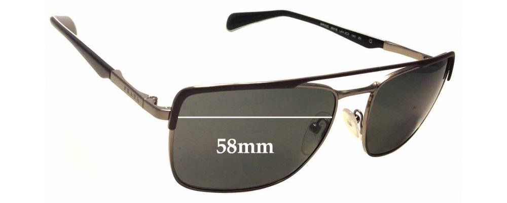 Prada SPR50Q Replacement Sunglass Lenses - 58mm wide