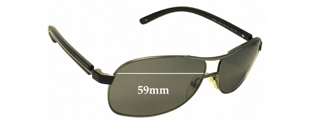 Prada SPR59L Replacement Sunglass Lenses - 59mm Wide