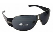 Prada SPR 60H Replacement Sunglass Lenses - 69MM across
