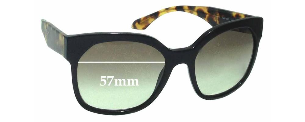 Prada SPR10R Replacement Sunglass Lenses - 57mm wide