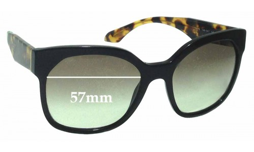 Prada SPR10R Replacement Sunglass Lenses - 57mm wide