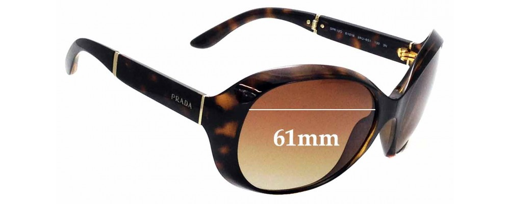 Sunglass Fix Replacement Lenses for Prada SPR12O - 61mm wide
