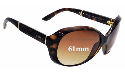 Sunglass Fix Replacement Lenses for Prada SPR12O - 61mm wide
