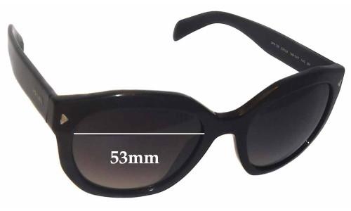 Prada SPR12S Replacement Sunglass Lenses -53mm wide