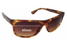 Prada SPR15R Replacement Sunglass Lenses - 60mm wide lens