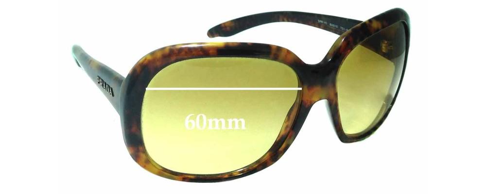 Sunglass Fix Replacement Lenses for Prada SPR 17I - 60mm Wide