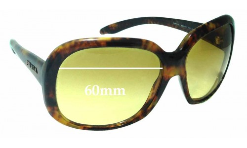Sunglass Fix Replacement Lenses for Prada SPR 17I - 60mm Wide