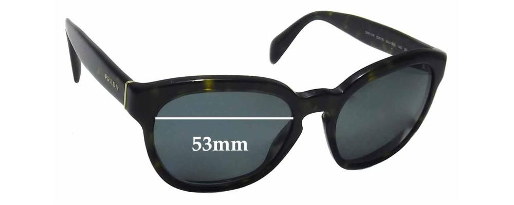 Prada SPR17R Replacement Sunglass Lenses -53mm wide