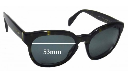 Prada SPR17R Replacement Sunglass Lenses -53mm wide