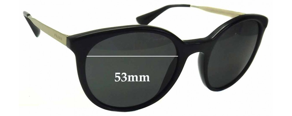 Prada SPR17S Replacement Sunglass Lenses -53mm wide