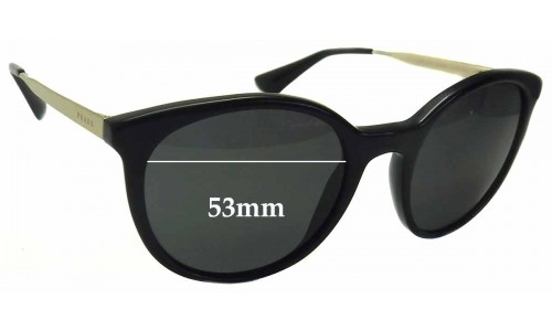 Prada SPR17S Replacement Sunglass Lenses -53mm wide