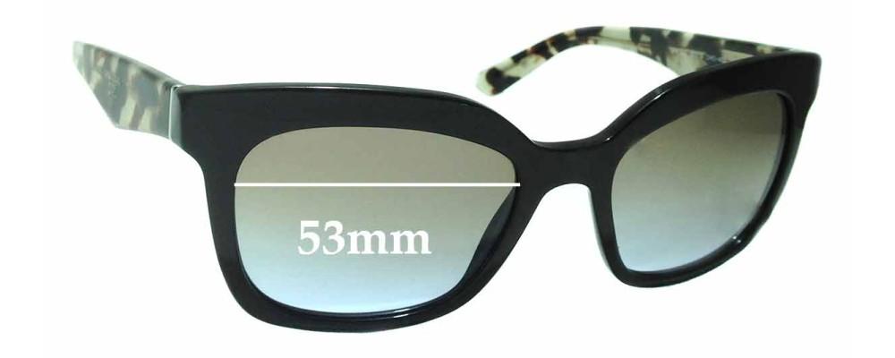 Prada SPR24Q Replacement Sunglass Lenses -53mm wide