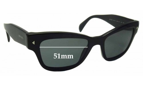 Prada SPR29R Replacement Sunglass Lenses - 51mm wide