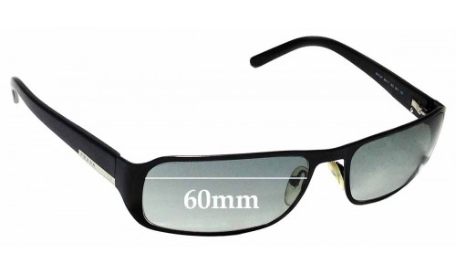 Sunglass Fix Replacement Lenses for Prada SPR52F 60mm wide