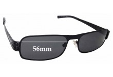 Sunglass Fix Replacement Lenses for Prada SPR52I - 56mm wide