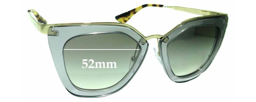Sunglass Fix Replacement Lenses for Prada SPR53S - 52mm wide