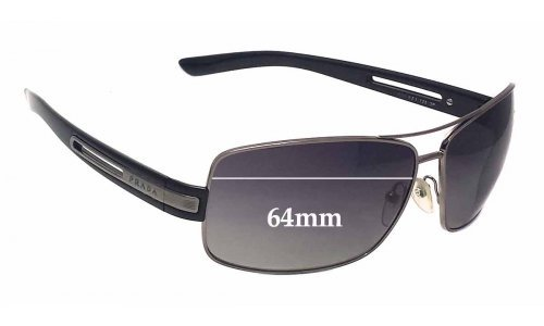Prada SPR54I Replacement Sunglass Lenses - 64mm lens