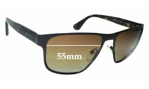 Prada SPR55S Replacement Sunglass Lenses - 55mm wide