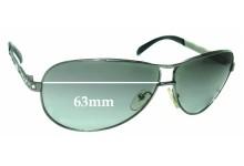 Sunglass Fix Replacement Lenses for Prada SPR56I - 63mm wide
