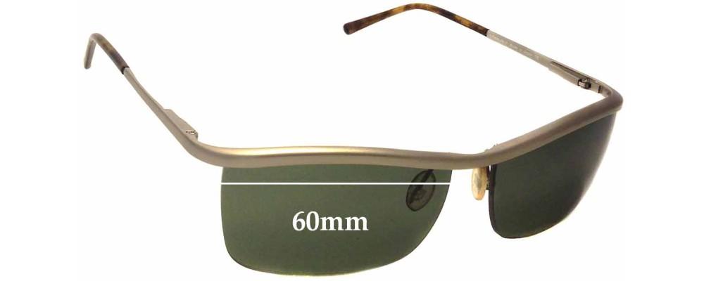 Prada SPR57C Replacement Sunglass Lenses - 60mm wide