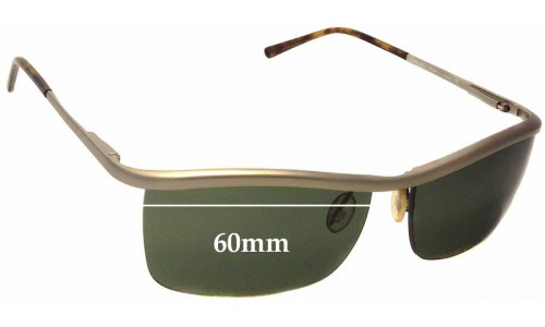 Prada SPR57C Replacement Sunglass Lenses - 60mm wide