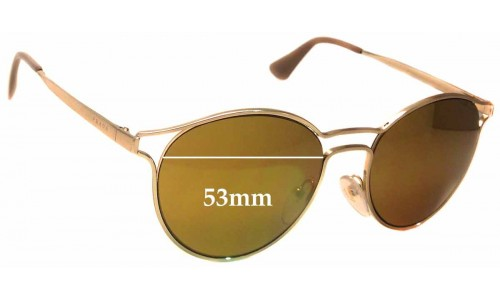 Prada SPR62S Replacement Sunglass Lenses -53mm wide