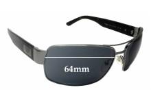Prada SPR66O Replacement Sunglass Lenses - 64mm wide