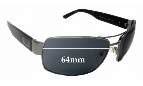 Prada SPR66O Replacement Sunglass Lenses - 64mm wide