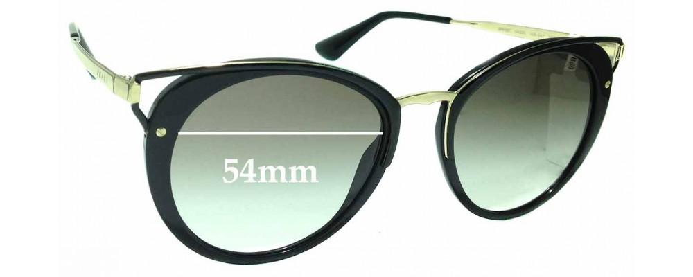 Sunglass Fix Replacement Lenses for Prada SPR66T - 54mm wide