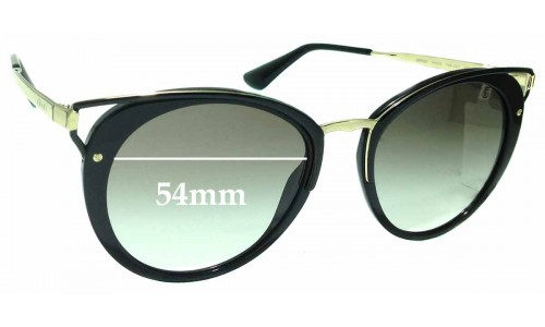 Sunglass Fix Replacement Lenses for Prada SPR66T - 54mm wide