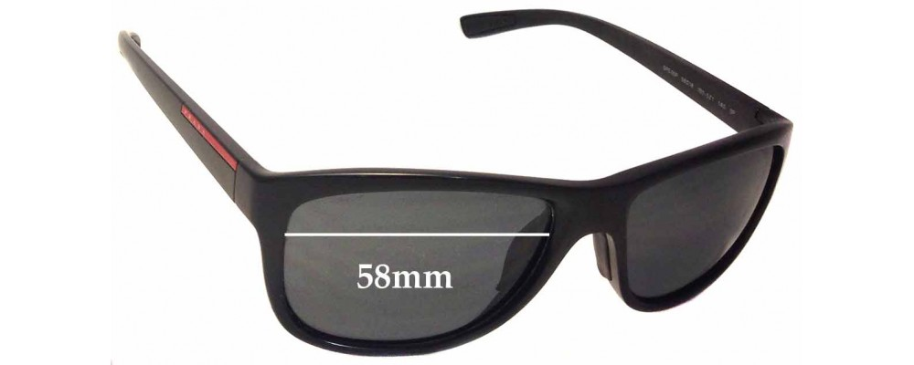 Prada SPS05P Replacement Sunglass Lenses - 58mm wide