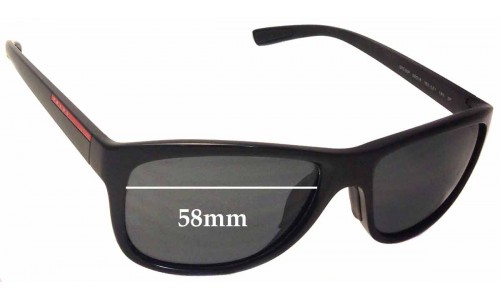Prada SPS05P Replacement Sunglass Lenses - 58mm wide