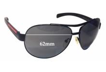 Prada SPS50I Replacement Sunglass Lenses - 62mm Wide