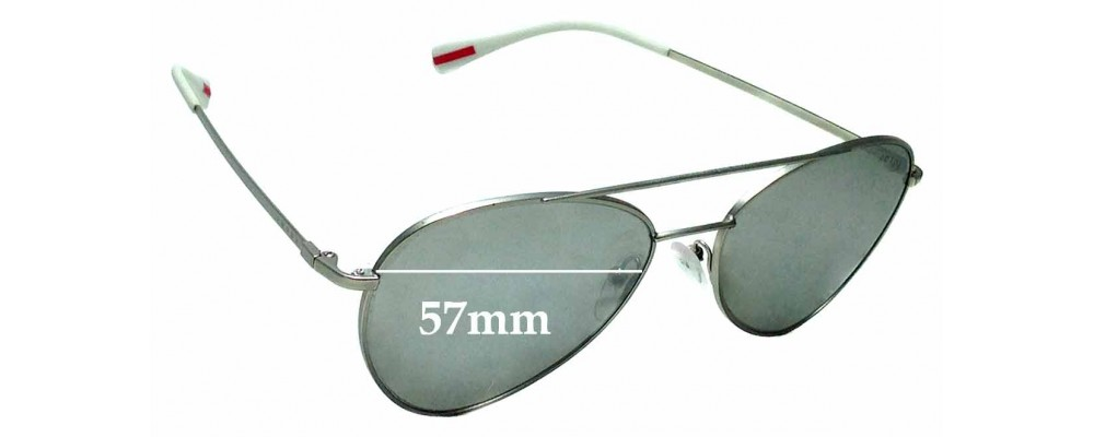 Sunglass Fix Replacement Lenses for Prada SPS 50S - 57mm wide