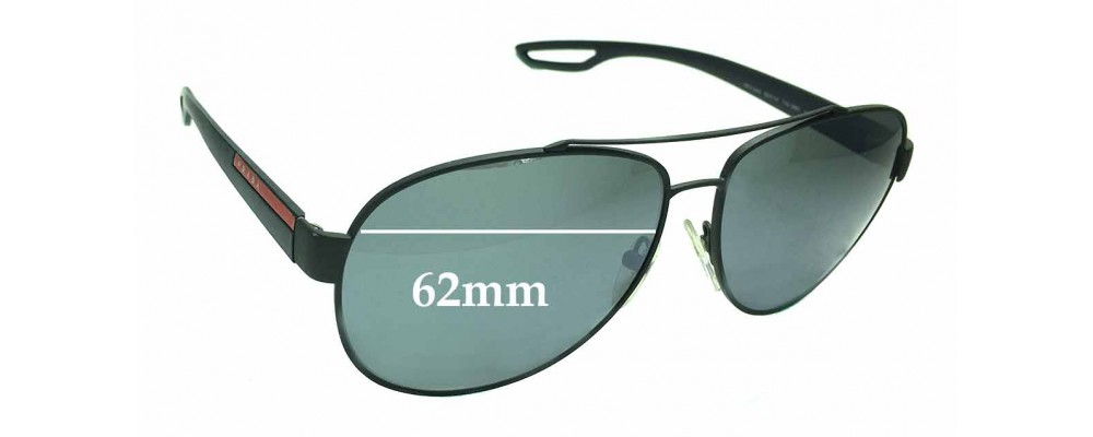 831c25eefd319 Prada SPS55Q Replacement Lenses 56mm by The Sunglass Fix®