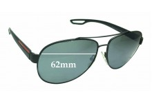 Prada SPS55Q Replacement Sunglass Lenses - 62mm wide